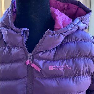 Mountain warehouse puffer jacket size 11-12